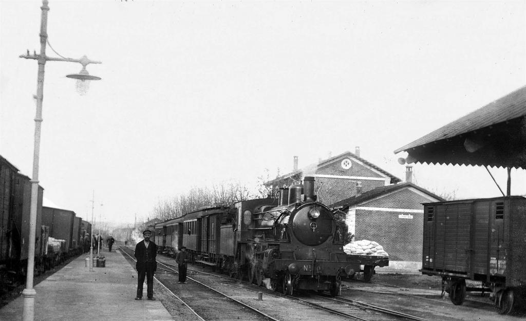 Locomotora tirando de un tren de pasajeros en Mollet